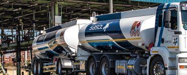 Sasol fuel tanker leaving the fuel depot