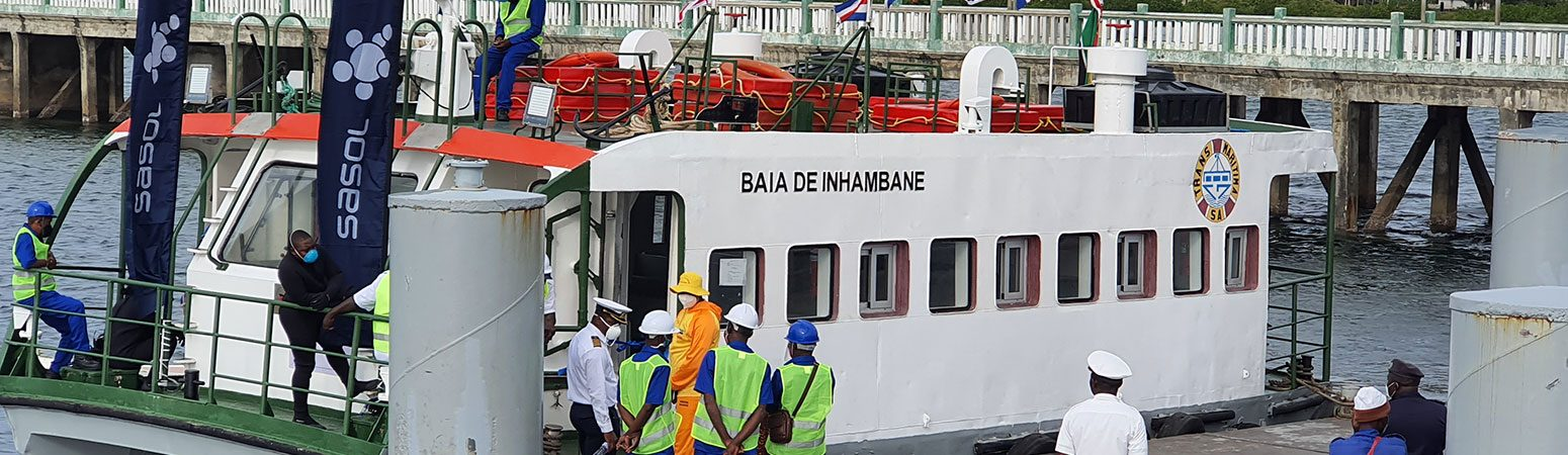 Sasol hands over a renewed ferryboat to the Government and communities of Inhambane and Maxixe